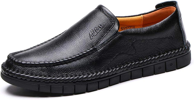 LXLA - män s s s Slip -on Business Casual läder skor herrar Non -Slip Comfortable Loafers for Mans (Färg  svart, Storlek  8.5 US  7.5 Storbritannien)  hög kvalitet och snabb frakt
