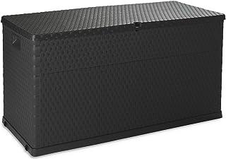 Toomax Coffre à coussins - Malle de rangement 420 L, Rattan Polypropylène Anthracite - ART162A