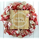 HOLIDAY STUFF Twinkling Stra Fiber Optic Christmas Wreath Pre-lit with Blue and White LED Lights (16in Wreath)