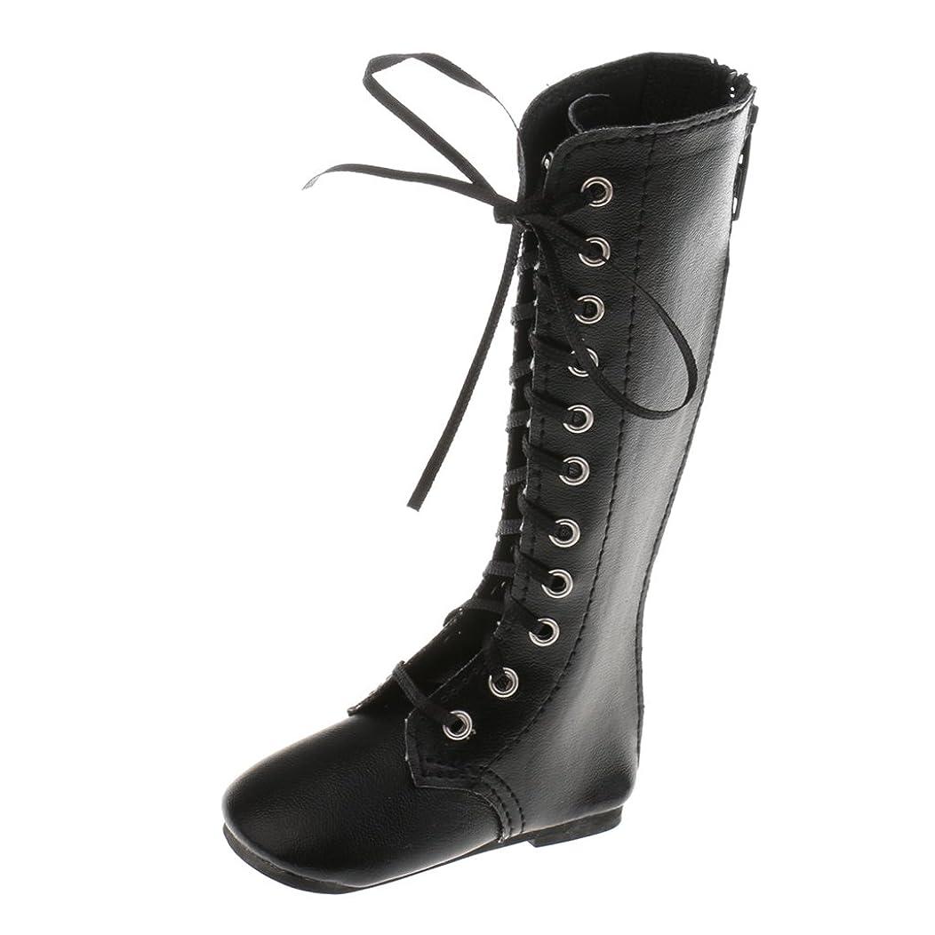 炎上積分ペチュランス1/3スケール BJD SD DOD MSD LUTSドール用 シューズ レースアップ ミッドカーフ マーティンブーツ 靴 - ブラック