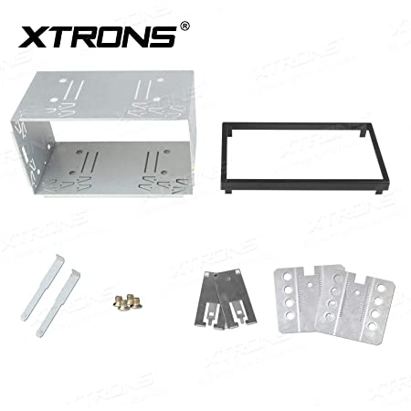 XTRONS Double Din 2 Din Universal Car Radio Mounting Car Cage Head Unit Cage Fitting Kit (14-003A)