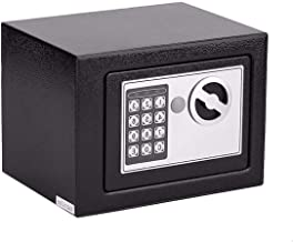 4.5l Electronic Security Safe Box Small with Pin Code Key Fireproof Waterproof Wall Floor Safes Steel Construction for Jew...