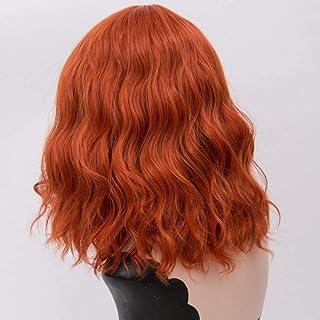 FHKGCD 16 Pouces Courte Ondulée Ombre Perruque avec Frange Cheveux Synthétiques Halloween Costume Cosplay Perruques pour L...