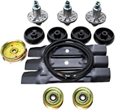 Lawn Mower Deck Rebuild Kit for D140 Blade Pully Belt Wheel Spindle GY20454 GY20867 GY20962 GY21098 AM137757 AM141035 GX21...