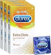 Durex Condoms, Extra Dots- 10s (Pack of 3)