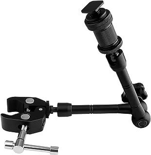 Htwon 撮影機材 照明機材 固定 マジックアーム+スーパークランプ カメラスタンド 11インチ セット 撮影 可動 フレキシブル クランプ カメラスタンド(1/4インチ 3/8インチネジ 両対応 )