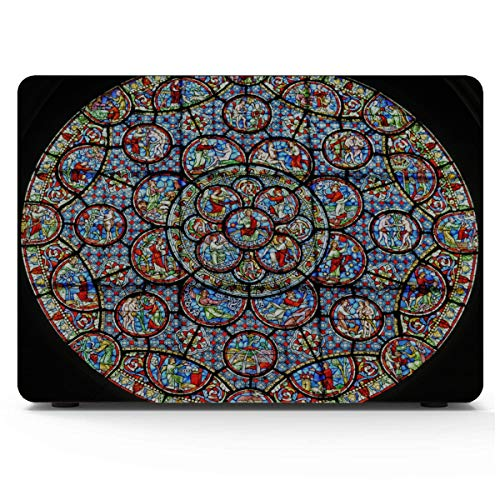 Mackbook Pro Case Bright Foreign Style Rose Window Laptop Cover Hard Shell Mac Air 11'/13' Pro 13'/15'/16' With Notebook Sleeve Bag For Macbook 2008-2020 Version