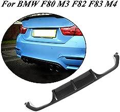 JC SPORTLINE Carbon Fiber Rear Bumper Lip Diffuser fits BMW F80 M3 F82 F83 M4 4-Door 2-Door 2014-2019