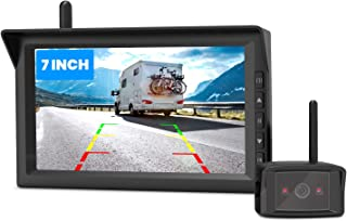 $229 » AUTO-VOX W10 Digital Wireless Backup Camera with 7-Inch Split Screen Monitor, Infrared Night Vision Rear View Camera for C...