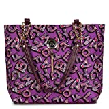 ✅★MATERIAL & DESIGN: A classical and fashionable tote bag & handle shoulder bag made up of soft PU leather and durable printed canvas, comfortable to carry with a zipper closure to keep all your things secure. Double stitched stress points, strong ha...