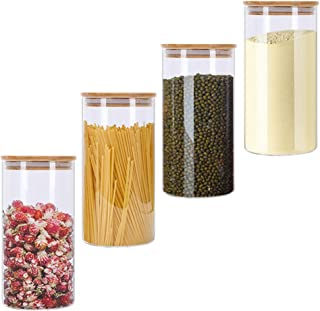 Barattolo per condimenti in Legno con Coperchio e Cucchiaio in Legno Naturale per Cucina e Ristorante TOPINCN per caff/è e Zucchero