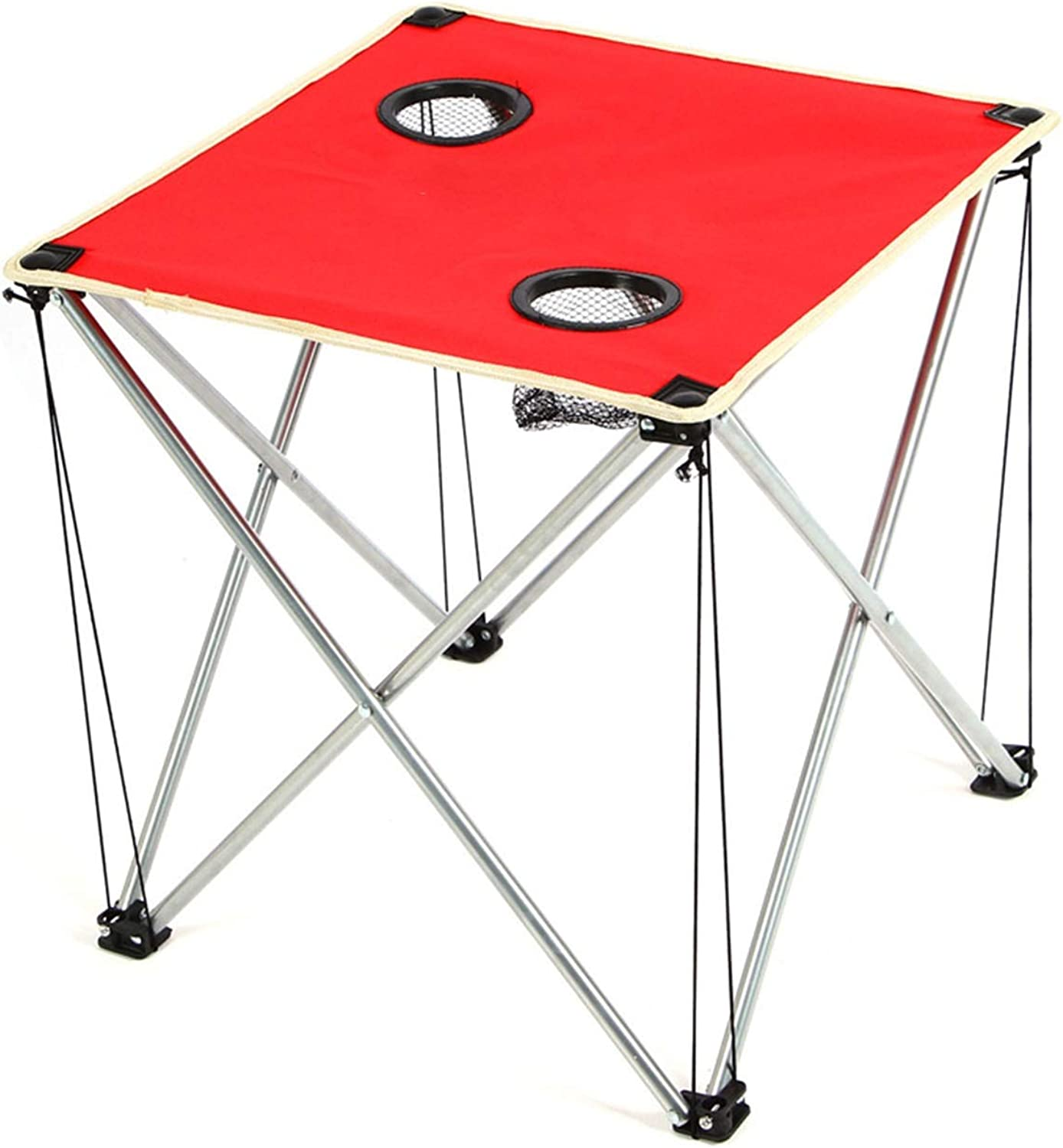 Convenient Thicken Outdoor Folding Table, Oxford Cloth Coffee Table, Travel Barbecue Beach, Ultra Light Portable Camping Supplies Easy to Install (color   Red)