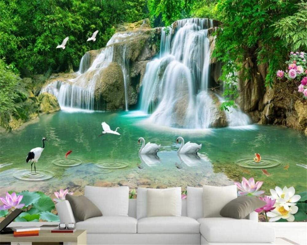 zrisic 3D Wallpaper Custom Natural Gold Cheap mail order shopping Lotus HD Ranking TOP9 Landscape Mural