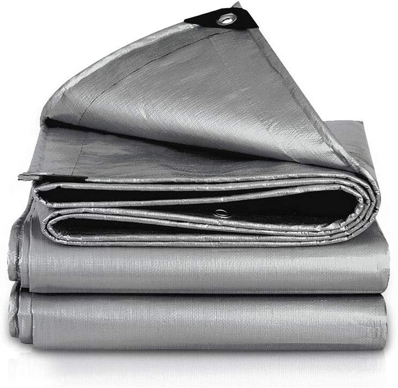 ZX タープ ターポリン 防水 シェーディングネット キャノピーテント、 にとって アウトドア キャンプ 200g/㎡ サンシェードネット テント アウトドア (Color : Gray, Size : 10x12m)