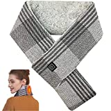 Electric Neck Heating Pad Scarf, Rechargeable heated scarf with 5000 mAh Power Bank for Women and Men, 3 Levels Heating Set By ZAMPAM