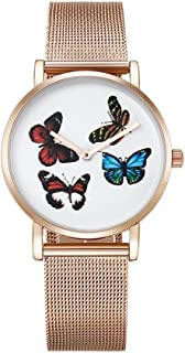 Fashion Watches 6812 Round Dial Alloy Gold Case Fashion Women Watch Quartz Watches with Stainless Steel Band