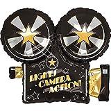 XL 32' Lights Camera Action Movie Camera Super Shape Mylar Foil Balloon Party