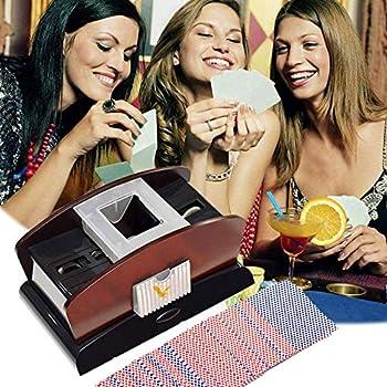 YTNP 1 2 Deck Automatic Card Shuffler auto Quiet Electronic shoffler Single Shuffling automated Playing shufflers Poker suffler Battery Operated automtic Shuffle Machine Casino Electric shifflers