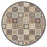 alfombra vinilica salon redonda