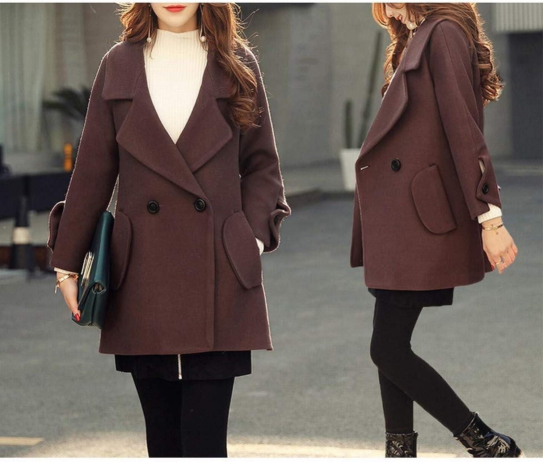 Coat Jacket, Woolen Coat, Spring and Autumn Large Size Small Short Temperament Woolen Coat, Female Long Cloak Woolen Coat XQY