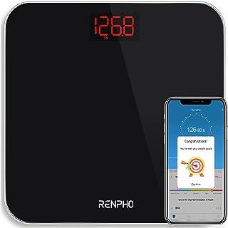 RENPHO Bluetooth BMI Personenweegschaal, Digitale Weegschaal met Zeer Nauwkeurige Sensoren en Smartphone-app - Zwart