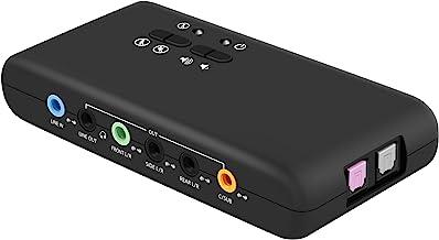 کارت صدای خارجی LEAGY USB 7.1 (8 کاناله) - Soundbox USB 7.1 کانال - صدای فراگیر 3D پویا - بلندگو تا 8 بلندگو - ضبط و پخش همزمان - تجهیزات صوتی آنالوگ و دیجیتال