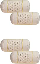 Rj Products Cotton Embroidered Bolsters Cover - Pack of 4 Skin