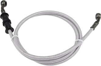 Mtsooning 1Pc Silver Motorcycle Braided Steel Brake Clutch Oil Hoses Line Pipe (Oil Hose Length 120cm)