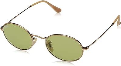 Ray-Ban RB3547N Oval Evolve Photochromic Sunglasses, Copper/Green Photochromic, 51 mm