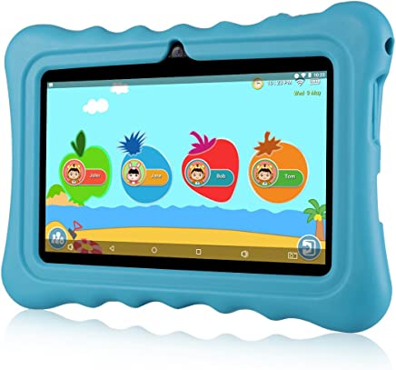 "$62 » Ainol Q88 Kids Android 7.1 OS Tablet 7"" Display 1G RAM 8 GB ROM Light Weight Portable Kid-Proof Shock-Proof Silicone Case Kickstand Available with iWawa for Kids Education Entertainment (Blue)"