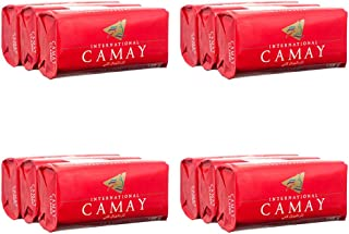 Camay Softly Scented Bath Bar Classic Soap 125 G / 4.5 Oz Each 3 Count 12 Bars Total by Camay