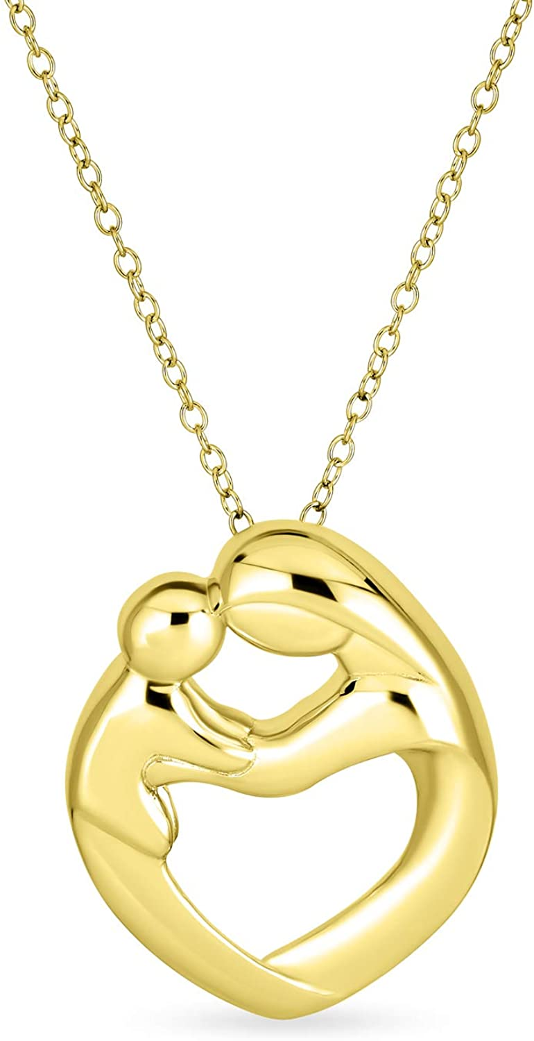 Family All stores Ranking TOP13 are sold New Mother Loving Son Daughter Child Shaped Heart Pendant