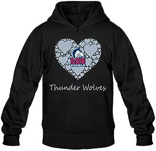 CYANY CSU Colorado State University Pueblo T Wolves Lace Heart Women's Casual Hoodies Sweater Black