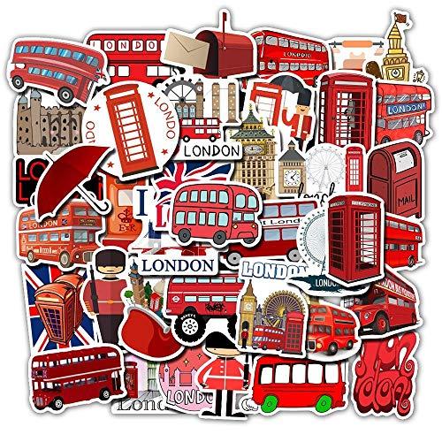 50 pegatinas de graffiti estilo autobús de Londres con texto en inglés 'Explosions Do Not Repeat Equipaje' impermeables