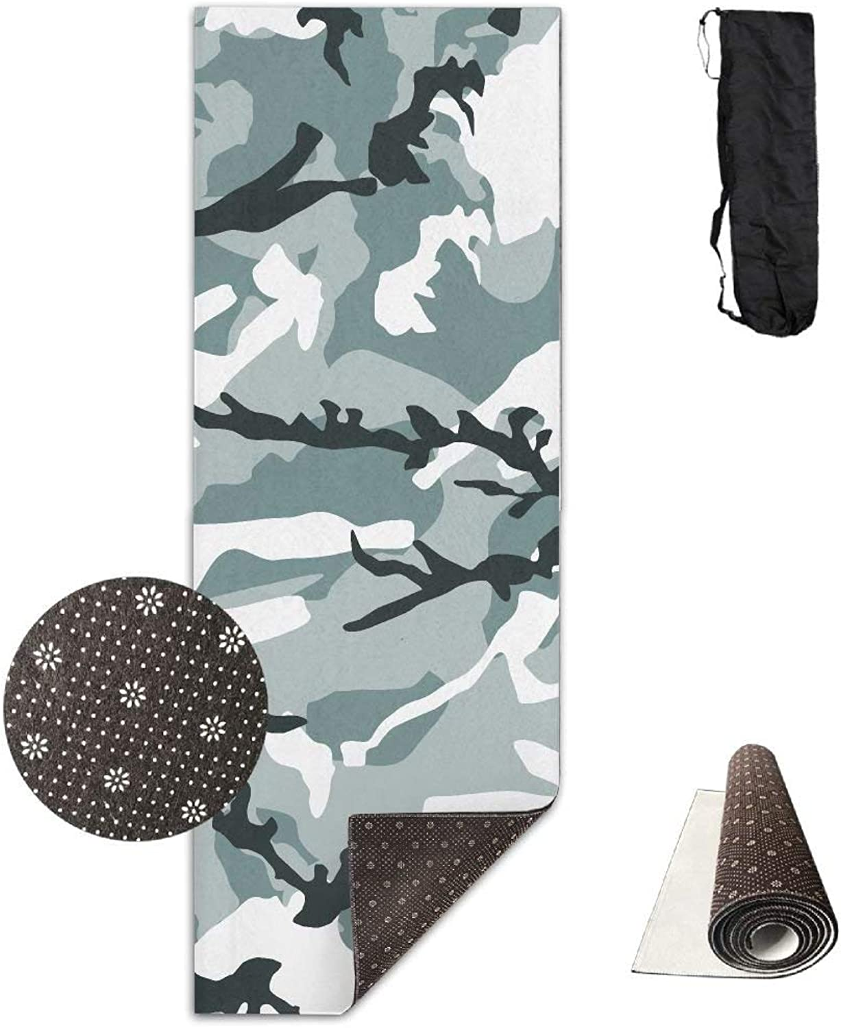 Nature Camouflage Yoga Mat Towel for Bikram Hot Yoga, Yoga and Pilates, Paddle Board Yoga, Sports, Exercise, Fitness Towel