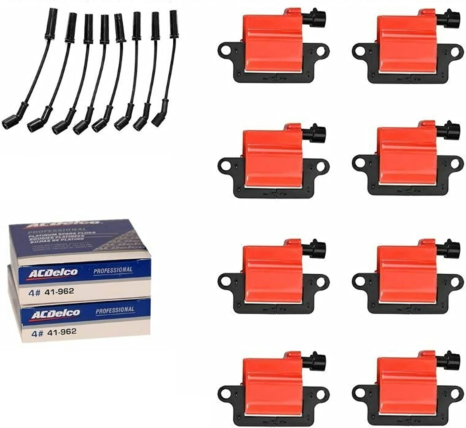 MCK 8pcs Denver Mall Premium Ignition Coil Pack With New sales Plug Set and Wire Spark