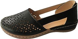 UULIKE Sandales Femmes Plates Caoutchouc Casuel Confort Mocassins Loafers Chaussures de Conduite La Mode Été Chaussures de...