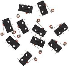 Heschen Interrupteur /à bascule On -off momentan/é DPDT 6/Bornes 16/A 250/VAC Noir Lot de 2