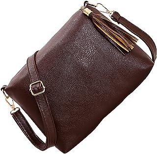 Baosity New Design Fashion Women's PU Leather Handbags Solid Shoulder Bag Messenger