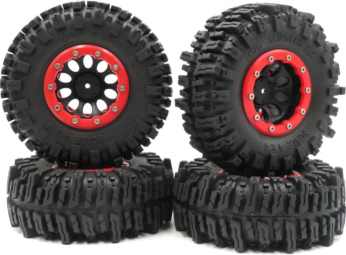 4pcs RC 2.2 Mud free Slingers Tires Cheap mail order sales Rock Grip Super Tye Crawler Truck