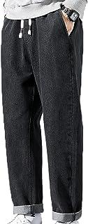 Generic11 Pantaloni Jeans da Uomo I Pantaloni in Denim Morbidi e Confortevoli Sono Adatti per Pantaloni Harem Larghi su St...