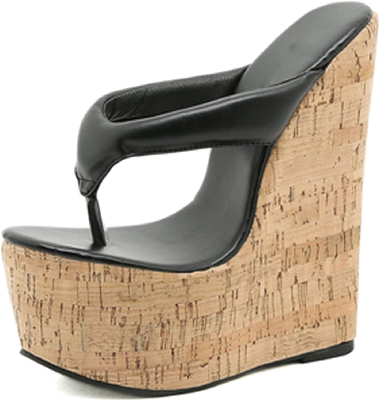 VOMIRA Women's Platform Flip Flops Wedge Open Toe Slip-On Slide Sandals Summer High Heel Thick Bottom Slippers