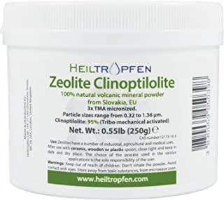 Zeolite Powder | 0.55 Pound 250g | Ultra FINE Less-Than 2 µm | Clinoptilolite 95% | 3X Activated | Natural Mineral Dust | ...