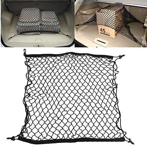 Car Net, Cargo net Flexible Nylon Rear Cargo Car Trunk Storage Net Luggage Carrier net Mesh Storage car Organizer Pet Barrier Net Dog Guard Barrier Protector for Car