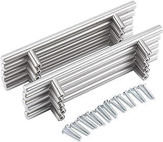 20Pcs Tiradores Perillas para Muebles Cepillado Acero Inoxidable Barra de T Asas Tirador de Mueble Manija del Armario Ala...