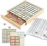 Rompecabezas Juego de mesa, con cajón de madera de madera del tablero del juego de Sudoku Matemáticas Enseñanza Asistencia for la Educación Juguetes padres e hijos los regalos de cumpleaños de los niñ