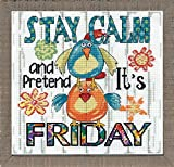 Design Works Crafts, 10' x 10' Counted Cross Stitch Kit, Stay Calm