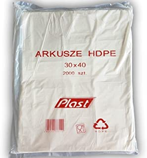 PE foglio PE foglio HD Confezione da 4000 pezzi fogli da imballaggio 200 x 300 mm Foglio HD foglio di plastica HDPE 20 x 30 cm
