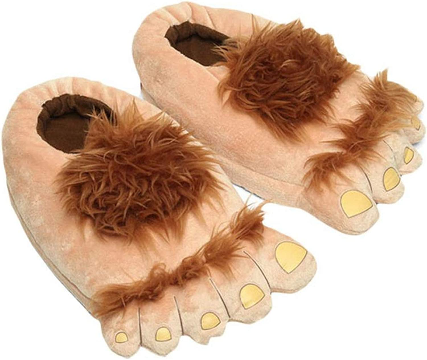 Women Men Plush Warm Slippers Big Feet Creative Men and Women Slippers Winter Home shoes Funny Home Soft shoes Cotton