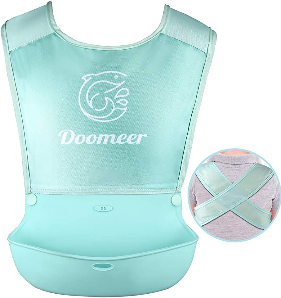 Baby Bib for Babies & Toddlers (6-72 Months) - Exclusively Designed Adjustable Posture Correction Strap